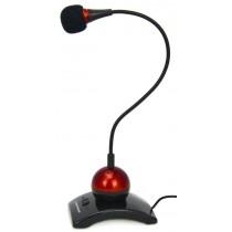 Esperanza mikrofon na podstawce z regulowanym ramieniem i wyłącznikiem EH130