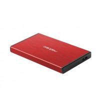 NATEC obudowa RHINO GO USB 3.0 na dysk 2,5'' SATA, czerwona, Aluminium