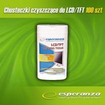 Esperanza ES106 chusteczki czyszczące do monitorów i ekranów LCD/TFT (100szt)