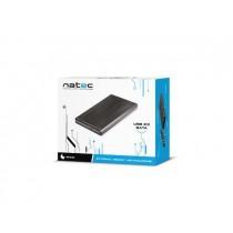 NATEC RHINO obudowa USB 2.0 na dysk HDD/SSD 2.5'' SATA, czarna Aluminium