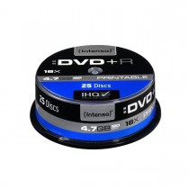 Intenso DVD+R 4.7GB 16x Printable Extra Fine Matt Fullface (cake box, 25szt)