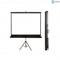 4World ekran projekcyjny ze statywem 145x110 (72'', 4:3) biały mat