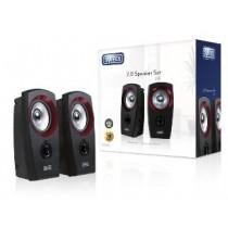 Sweex zestaw głośników 2.0 USB (20W, czarno-czerwony)