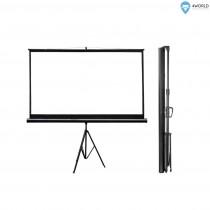 4World Ekran projekcyjny ze statywem 186x105 (84'', 16:9) biały mat