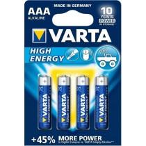 VARTA Baterie Varta High Energy, Micro LR03/AAA - 4 szt