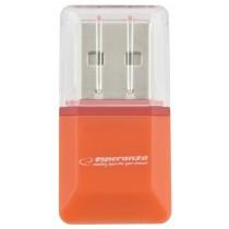 Esperanza Czytnik Kart MicroSD EA134O | Pomarańcz| USB 2.0 | (MicroSD Pen Drive)