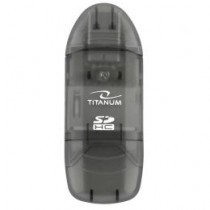 Esperanza TITANUM Czytnik Kart SDHC/MiniSDHC/MicroSDHC/RS/MM TA101K CZARNY USB 2.0