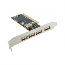 4World Kontroler PCI do USB 2.0 (4+1)