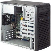 Supermicro Mini-Tower, 300W PS, 4x 3.5 internal tool-less HDD bays, 2x 5.25 peripheral ba