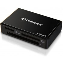 Transcend czytnik kart USB 3.0/2.0, Black + Recovery Software