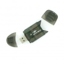 4World Czytnik kart - PenDrive SD/mini SD/MMC/RS-MMC/T-FLASH USB 2.0