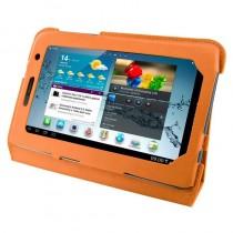4World Etui - stand dla Galaxy Tab 2, Ultra Slim, 7'', pomarańczowe