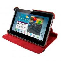4World Etui ochronne/Podstawka do Galaxy Tab 2, Rotary, 7'', czerwone