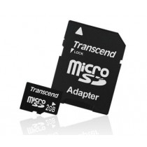 Transcend micro Secure Digital 2GB + adapter SD