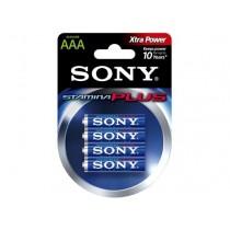 Sony Baterie alkaliczne Stamina Plus LR03 x 4 szt.
