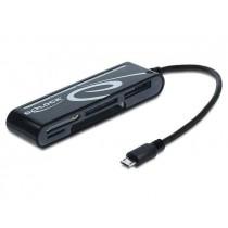 DeLOCK czytnik kart Micro USB OTG z 6 gniazdami