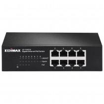Edimax 8x 10/100/1000Mbps Switch, 4x PoE ports, 802.3af, 48W budget (15,4/p.)