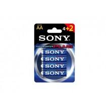 Sony Bateria alkaliczna Sony Stamina Plus LR6 AA (4+2szt blister)