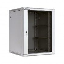 Linkbasic szafa wisząca rack 19'' 15U 600x600mm szara (drzwi przednie szklane)
