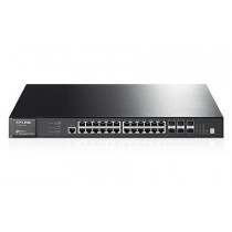 TP-Link T3700G-28TQ 24-Port Gigabit L3 Managed Switch with 4 Combo SFP+ Stack