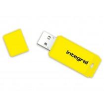 Integral pamięć USB NEON 16GB USB 2.0 - kolor żółty