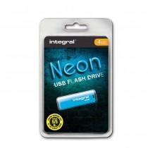 Integral pamięć USB Neon 4GB USB 2.0 kolor niebieski