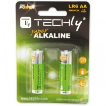 Techly Baterie alkaliczne 1.5V AA LR6 2 sztuki