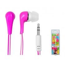 Vakoss Słuchawki douszne silikonowe stereo MH132EP różowe
