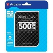Verbatim dysk zewnętrzny Store 'n' Go 2.5'' GEN 2, 500GB, USB 3.0, Czarny