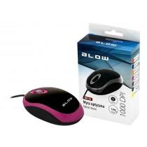 BLOW mysz optyczna MP-20 USB różowa