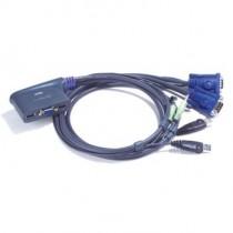 Aten CS62U 2-Port USB KVM Switch (Speaker Support, 1.8m cables)