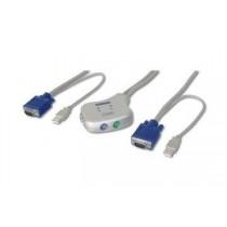 Digitus przełącznik KVM USB - mini (elektroniczny)