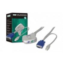 Digitus Przełącznik KVM usb - mini (elektroniczny), 5 LGW