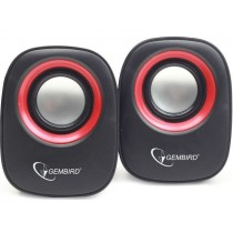 Gembird głośnik 2.0 SPK-107A, czarno-czerwony