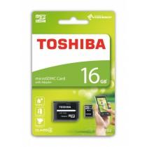 Toshiba Karta Pamięci Micro SDHC 16GB Class 4 + Adapter
