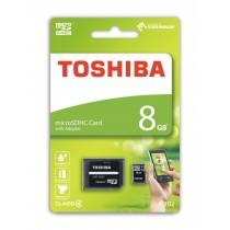 Toshiba microSDHC 8GB class 4 High Speed M102 adapter
