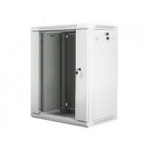 Lanberg szafa wisząca rack 19'' 15U 600x450mm szara (drzwi szklane)