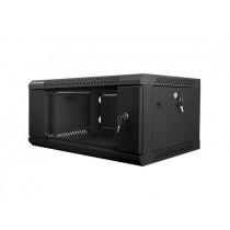 Lanberg szafa wisząca rack 19'' 4U 600x450mm czarna (drzwi szklane)