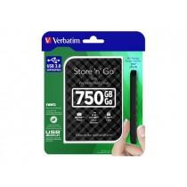 Verbatim dysk zewnętrzny Store 'n' Go 2.5'' GEN 2, 750GB, USB 3.0, Czarny
