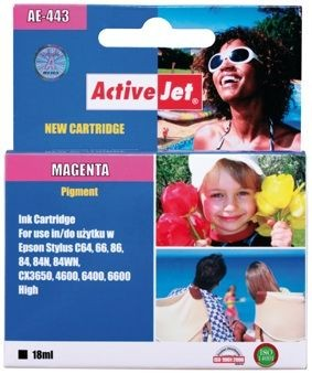ActiveJet Tusz ActiveJet AE-443N | Magenta | 18 ml | Chip | Epson T0443