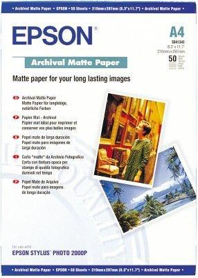 Papier Epson Archival Matte (matowy, 192g, A4, 50szt.)
