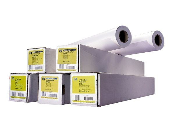 HP Coated Paper-914 mm x 91.4 m (36 in x 300 ft), 24 lb, 90 g/m2, C6980A