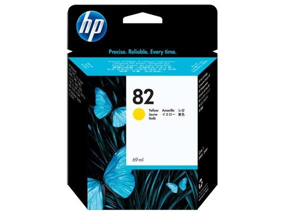 HP Tusz HP 82 yellow | 69ml | designjet800/800ps500/500ps120/120nr