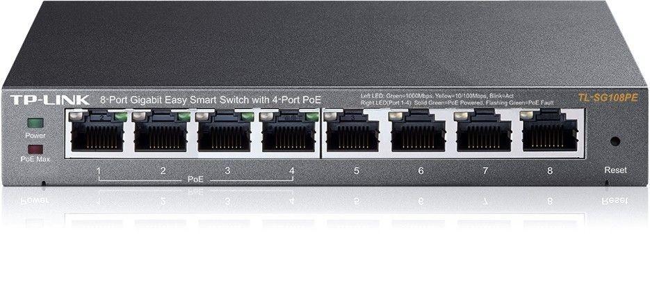 TP-Link TL-SG108PE 8-port Gigabit Desktop Switch Easy Smart with 4-Port PoE