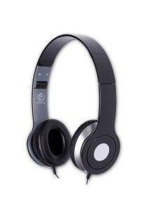 rebeltec Stereofoniczne słuchawki z mikrofonem CITY BLACK