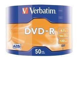 Verbatim DVD-R [ wrap 50 | 4.7GB | 16x | Matt Silver | AZO