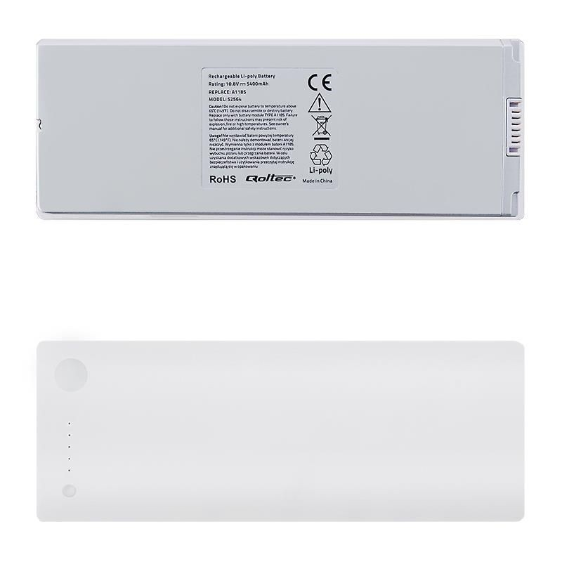 Qoltec Bateria do laptopa MacBookPro 13 A1185 | 10.8-11.1V | 5400mAh