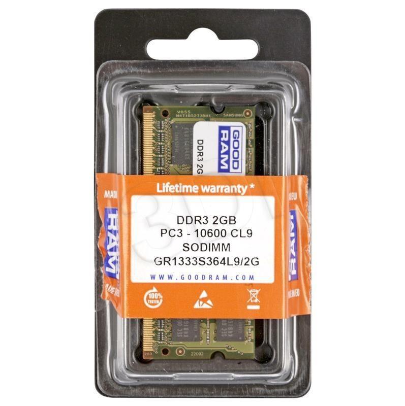 GoodRam DDR3 SODIMM 2GB/1333 CL9