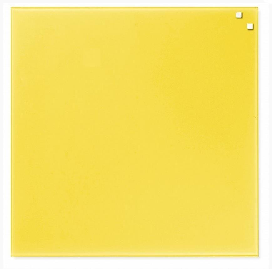 NAGA Szklana tablica magnetyczna żółta 45x45