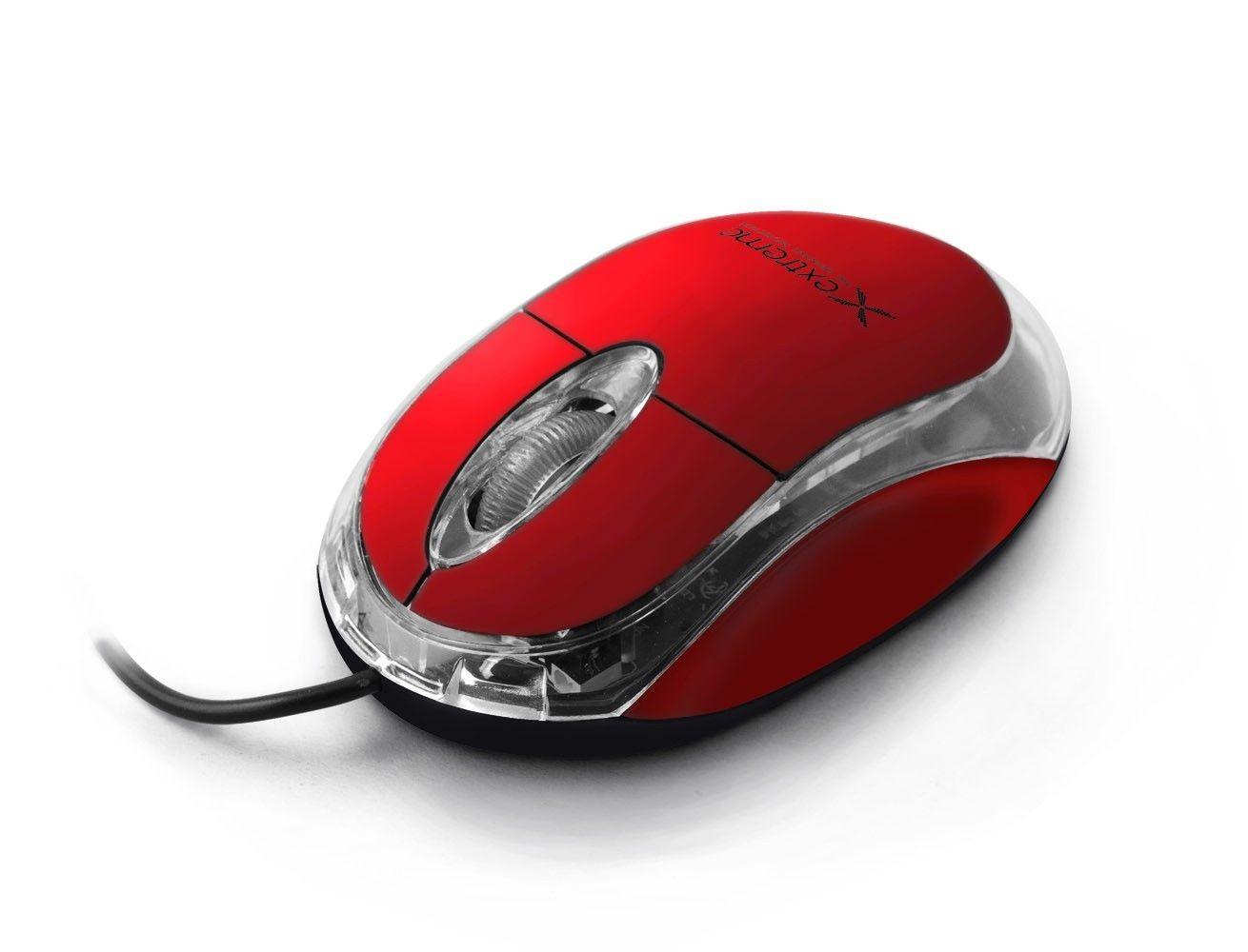 Esperanza EXTREME XM102R CAMILLE - Przewodowa Mysz Optyczna USB 3D  1000 DPI   Czerwona